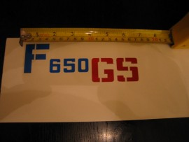 F 650 GS panel sticker
