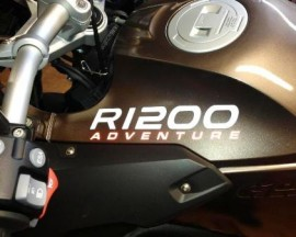 R1200 Tank Sticker with ADVENTURE word