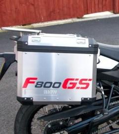 F800GS pannier sticker