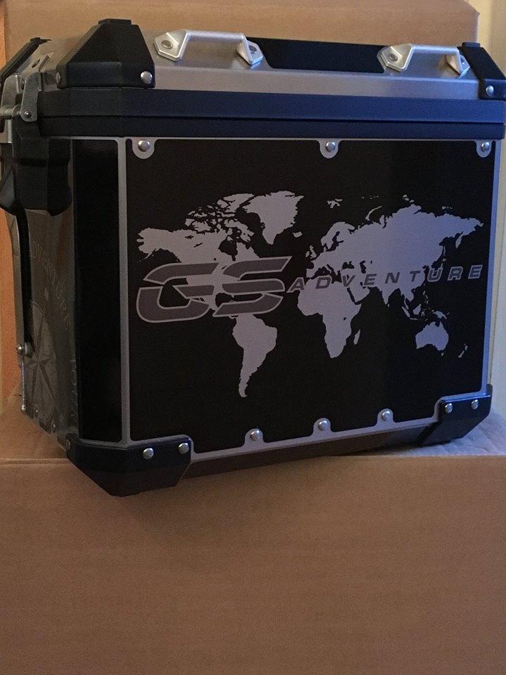 R1200 & R1250 GS Adventure LC Printed Black pannier wrap ...