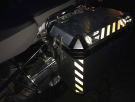 1200GSA Pannier Chevrons BLACK Reflective 2014>